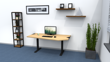Standard adjustable standing desk