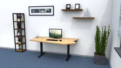 Standard adjustable standing desk